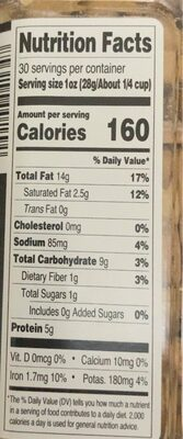 Southern Grove deluxe whole cashews with sea salt - Nutrition facts - en