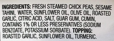Roasted Garlic Hummus - Ingrédients