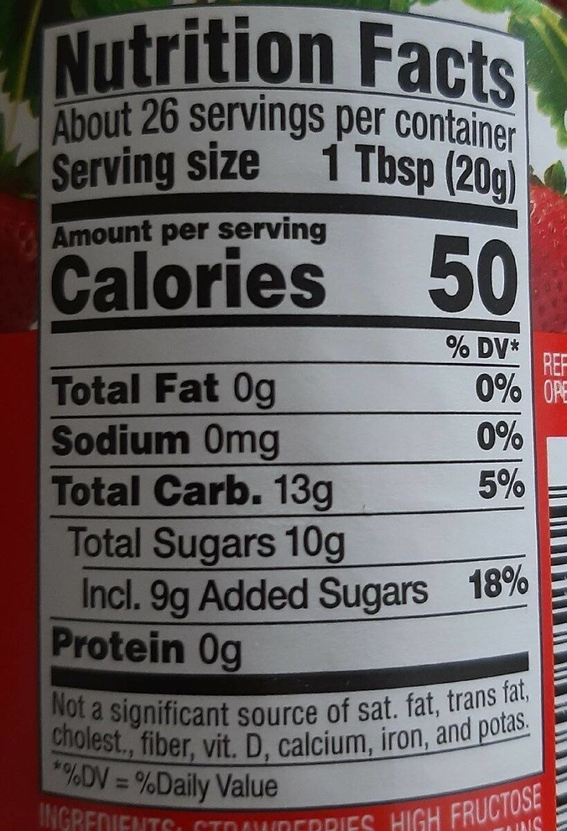 Strawberry preserves - Nutrition facts - en