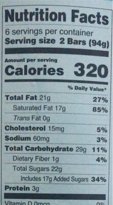 Ice cream crunch bara - Nutrition facts - en