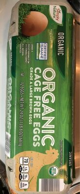Organic cage free eggs - Nutrition facts - en