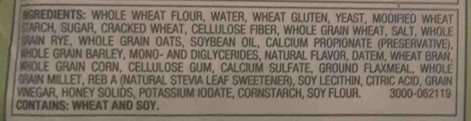 multigrain bread - Ingredients