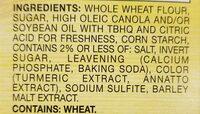 Thin Wheat Crackers - Ingredients - en