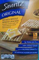 Woven whole wheat crakers - Produit - en