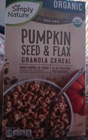 Pumpkin Seed & Flax Granola Cereal - Product