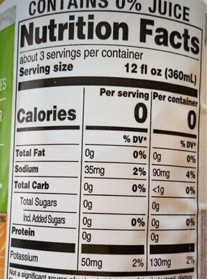 Mango Tropical - Informations nutritionnelles - en