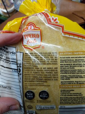 Corn Tortillas - Ingredients