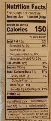 Maple spice - Nutrition facts - en