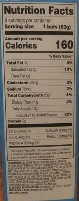 Chocolate Crunch Bars - Nutrition facts - en