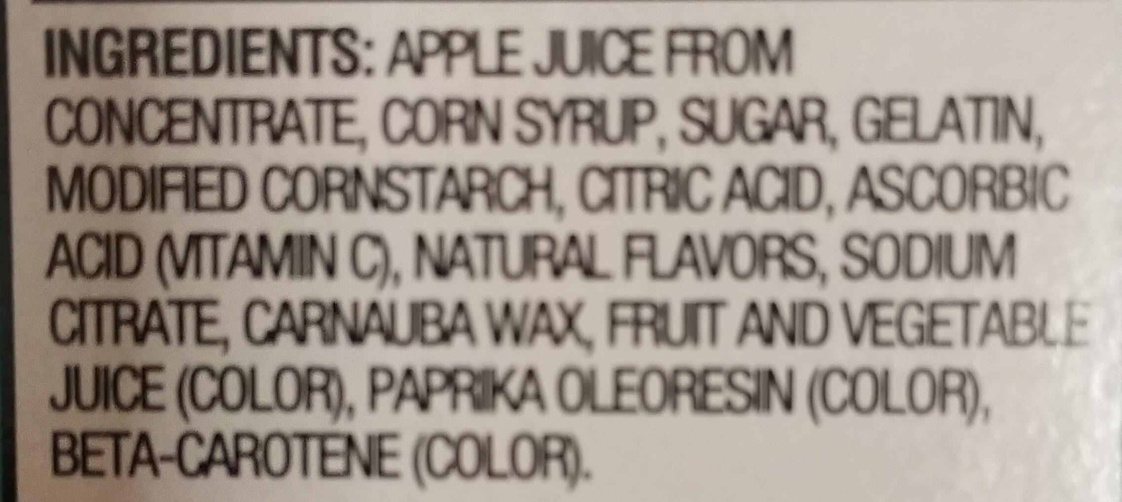 Fruit Flavored Snacks Assorted Tropical Flavors - Ingredients
