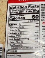 Whole wheat pita - Nutrition facts - en