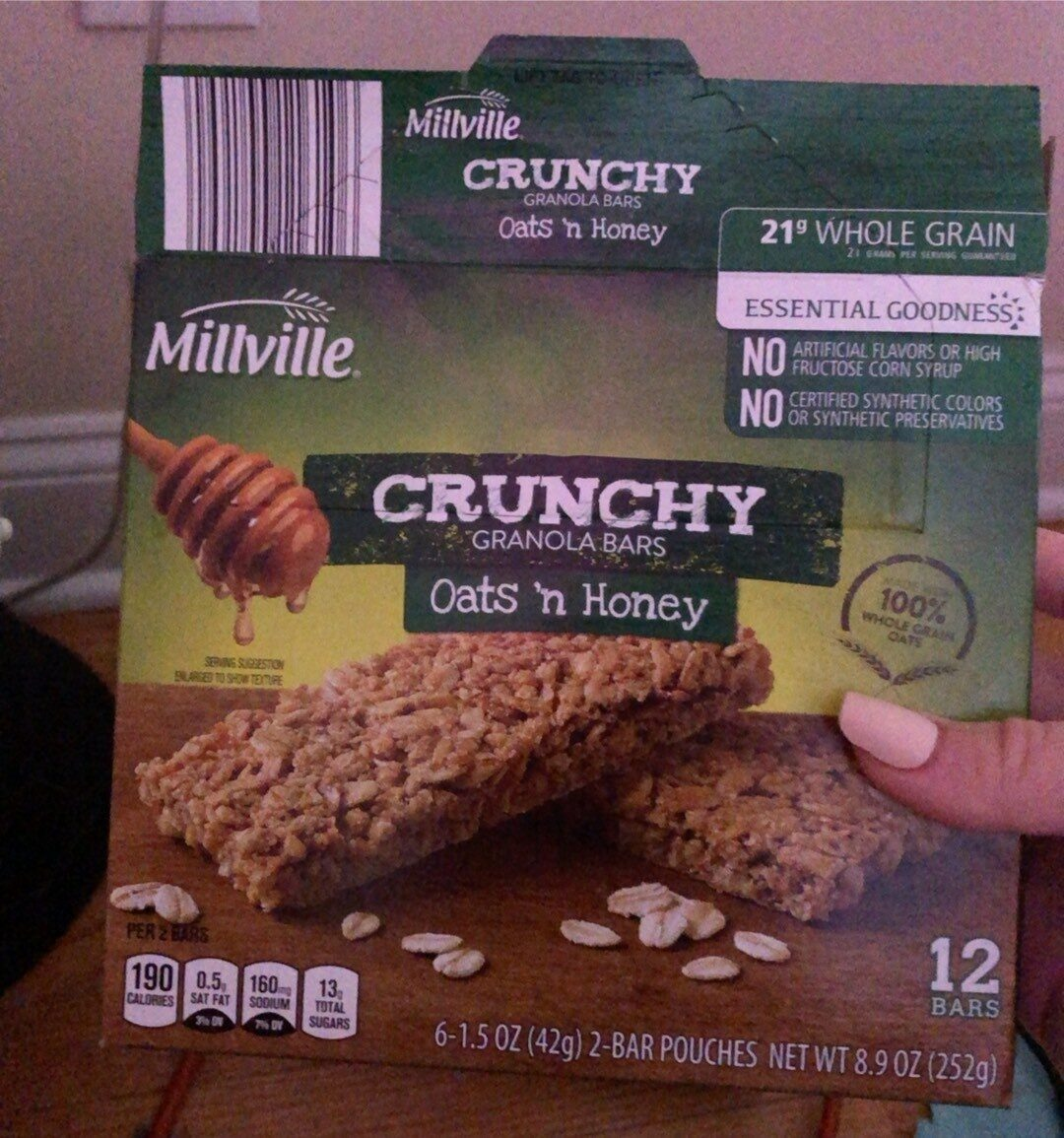 Crunchy granola bars - Product - en