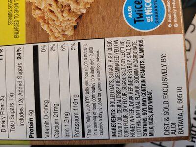 Crunchy granola bars - Ingredients - en