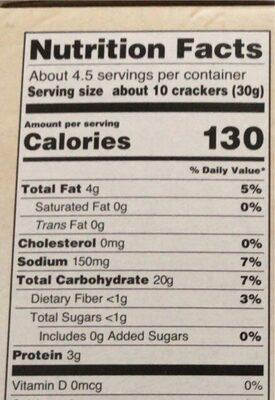 Pita crackers - Nutrition facts - en