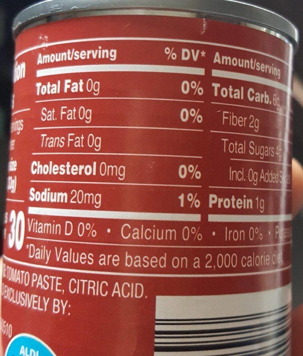 Tomate paste - Informations nutritionnelles - en