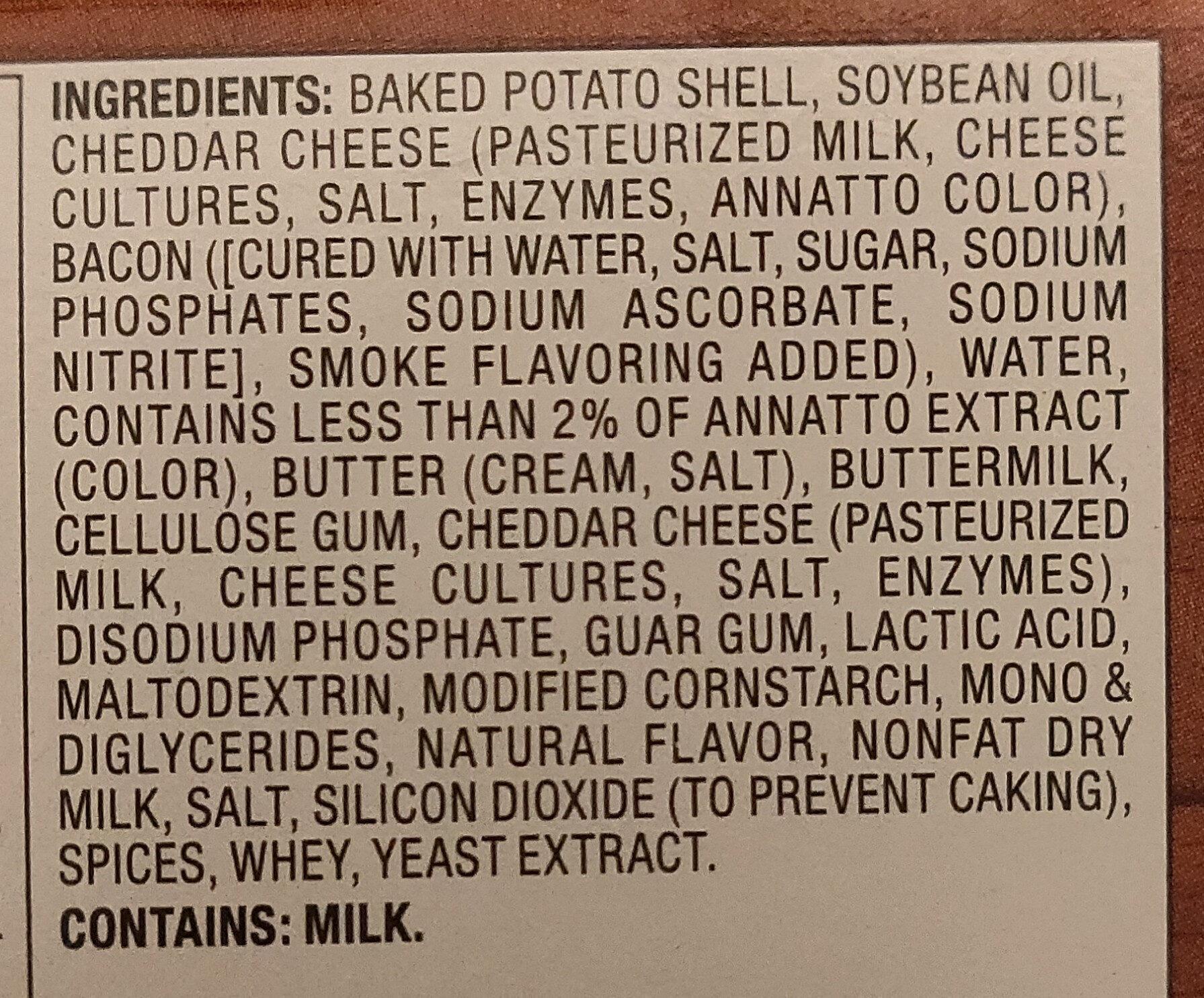 Loaded Potato Skins - Ingrédients - en