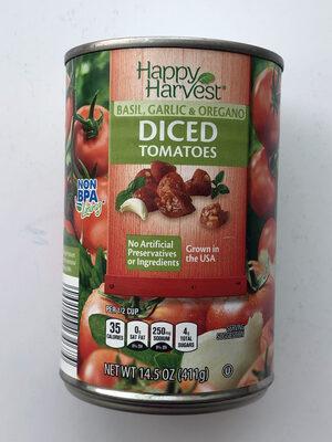 Diced Tomatoes (Basil, Garlic & Oregano) - Produit