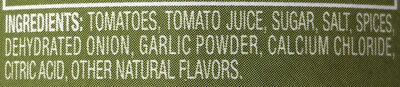 Diced Tomatoes (Basil, Garlic & Oregano) - Ingrédients