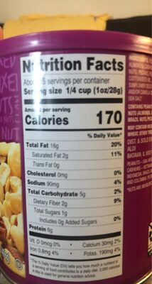 Mixed Nuts - Nutrition facts - en
