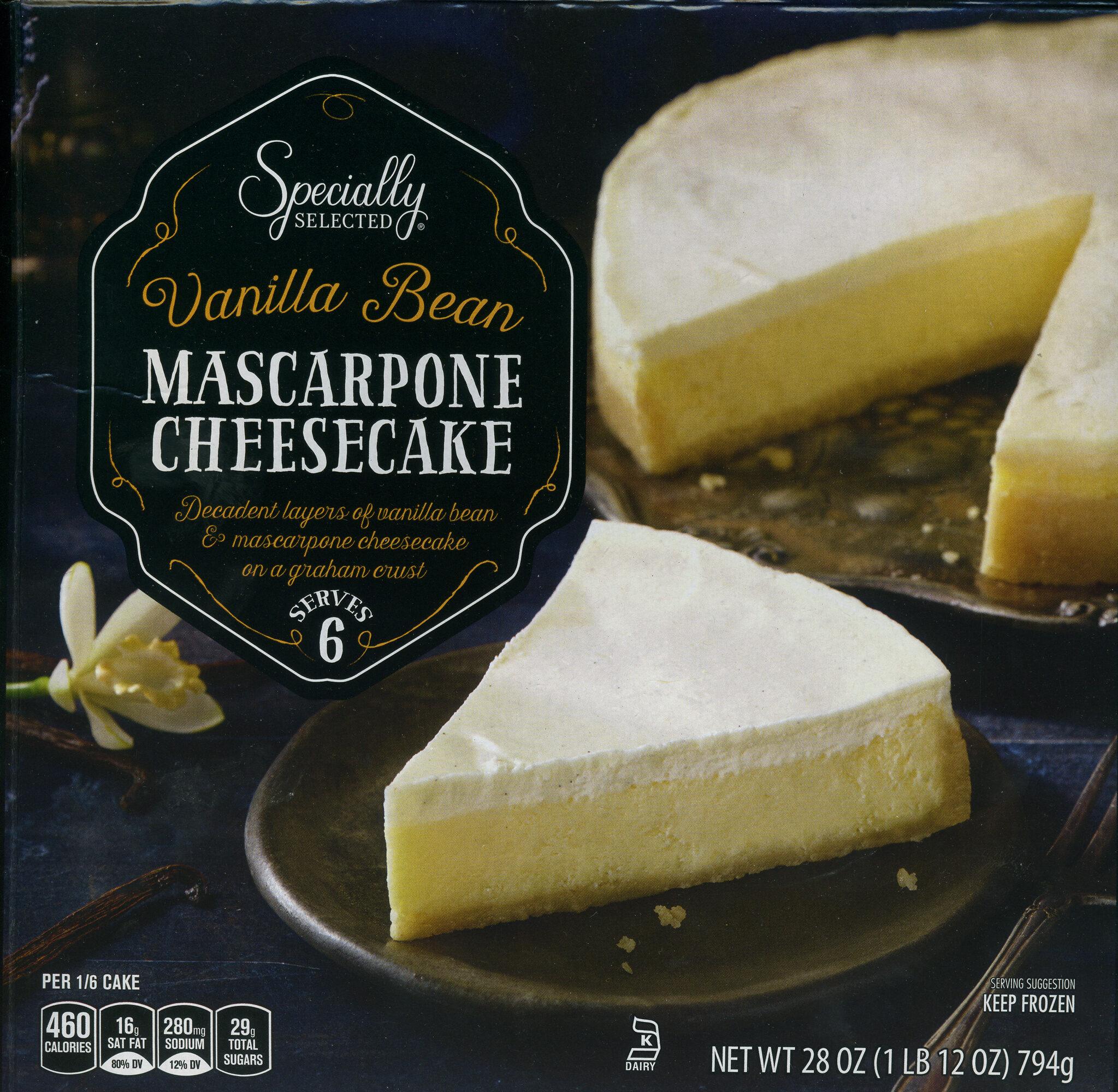 Specially Selected Vanilla Bean Mascarpone Cheesecake - Product - en