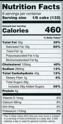 Specially Selected Vanilla Bean Mascarpone Cheesecake - Nutrition facts - en