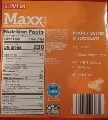 Maxx Bar Peanut Butter Chocolate - Produit