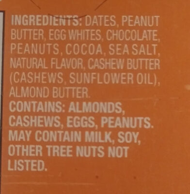 Maxx Bar Peanut Butter Chocolate - Ingrédients