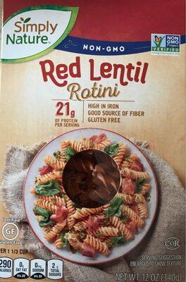 Red Lentil Rotini - Product - en