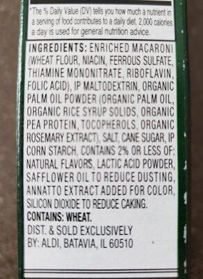Earth Grown Vegan Mac & Cheese - Ingredients - en