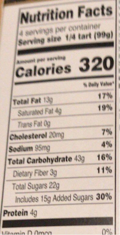 Apple tart - Nutrition facts - en