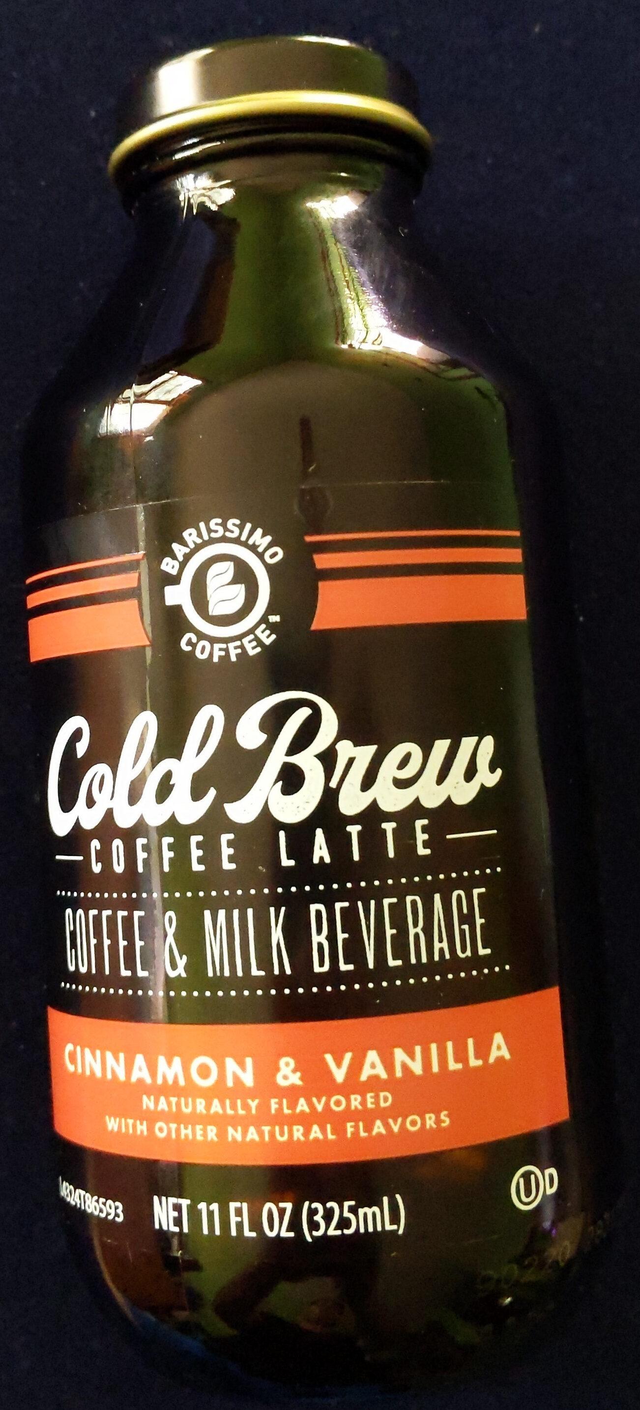 Barissimo Cold Brew Cinnamon and Vanilla Coffee Latte - Product - en