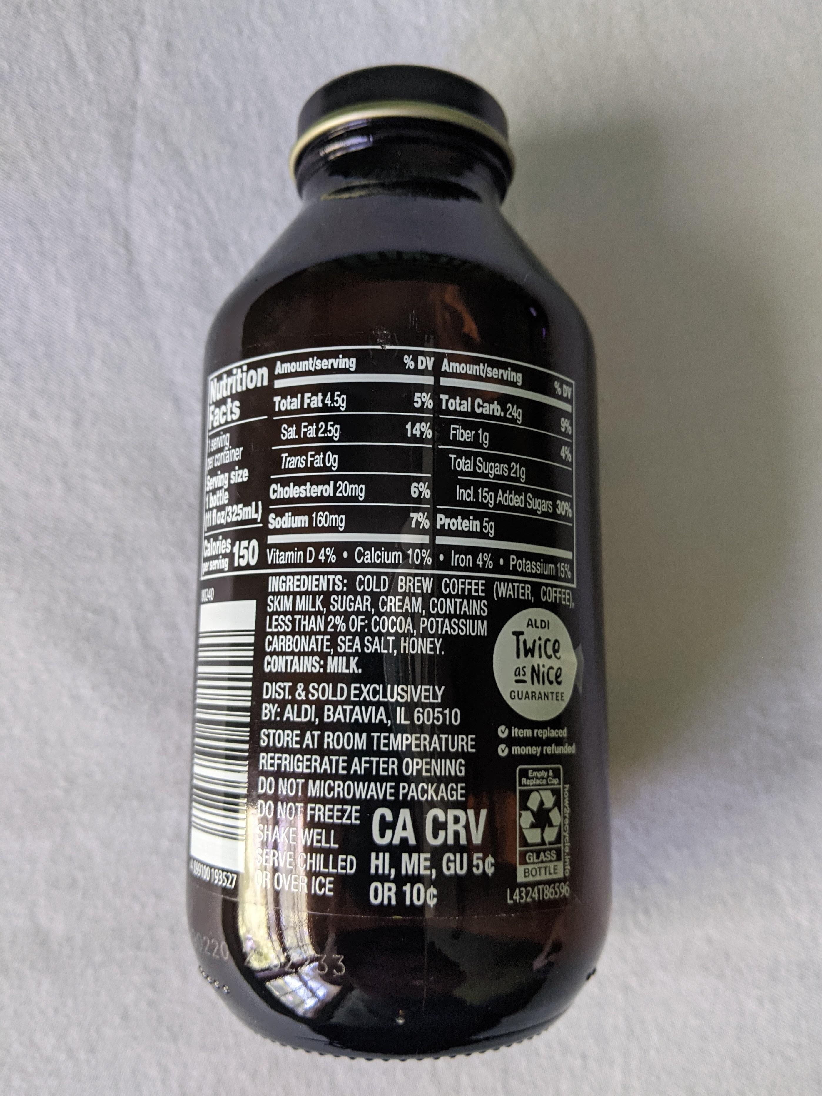 Cold Brew Cocoa and Honey Coffee Latte - Istruzioni per il riciclaggio e/o informazioni sull'imballaggio - en