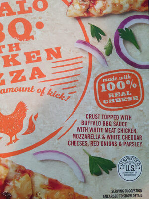 Thin Crust Spicy Buffalo BBQ With Chicken Pizza - Product - en