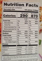 Thin Crust Spicy Buffalo BBQ With Chicken Pizza - Nutrition facts - en
