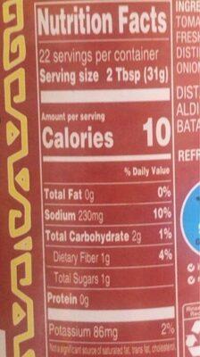 Chuncky salsa - Nutrition facts - en