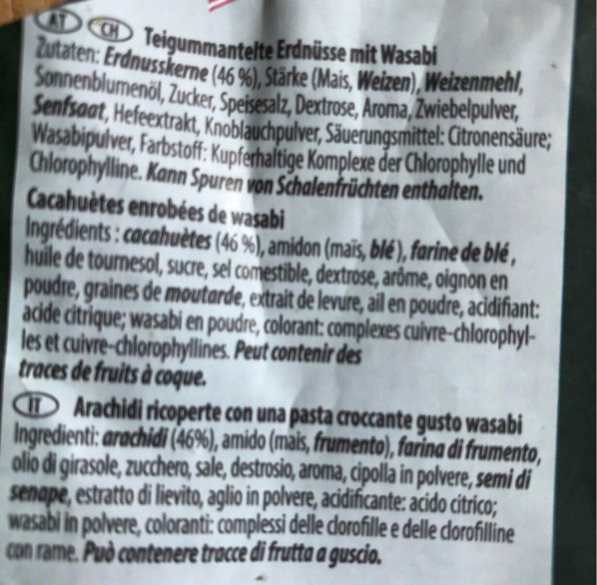 Cacahuètes enrobées de Wasabi - Ingredients