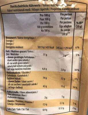 Cantuccini - Informations nutritionnelles - fr