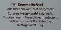Semmelbrösel - Ingredienti - de