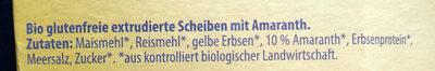 Bio Amaranth Knusperscheiben - Ingredients - de