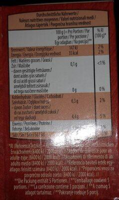 Passierte tomaten - Nutrition facts