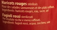 Haricots rouges - Ingredienti - fr