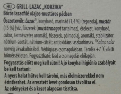 "Grill lazac ""Korzika"" - Ingredients - hu"