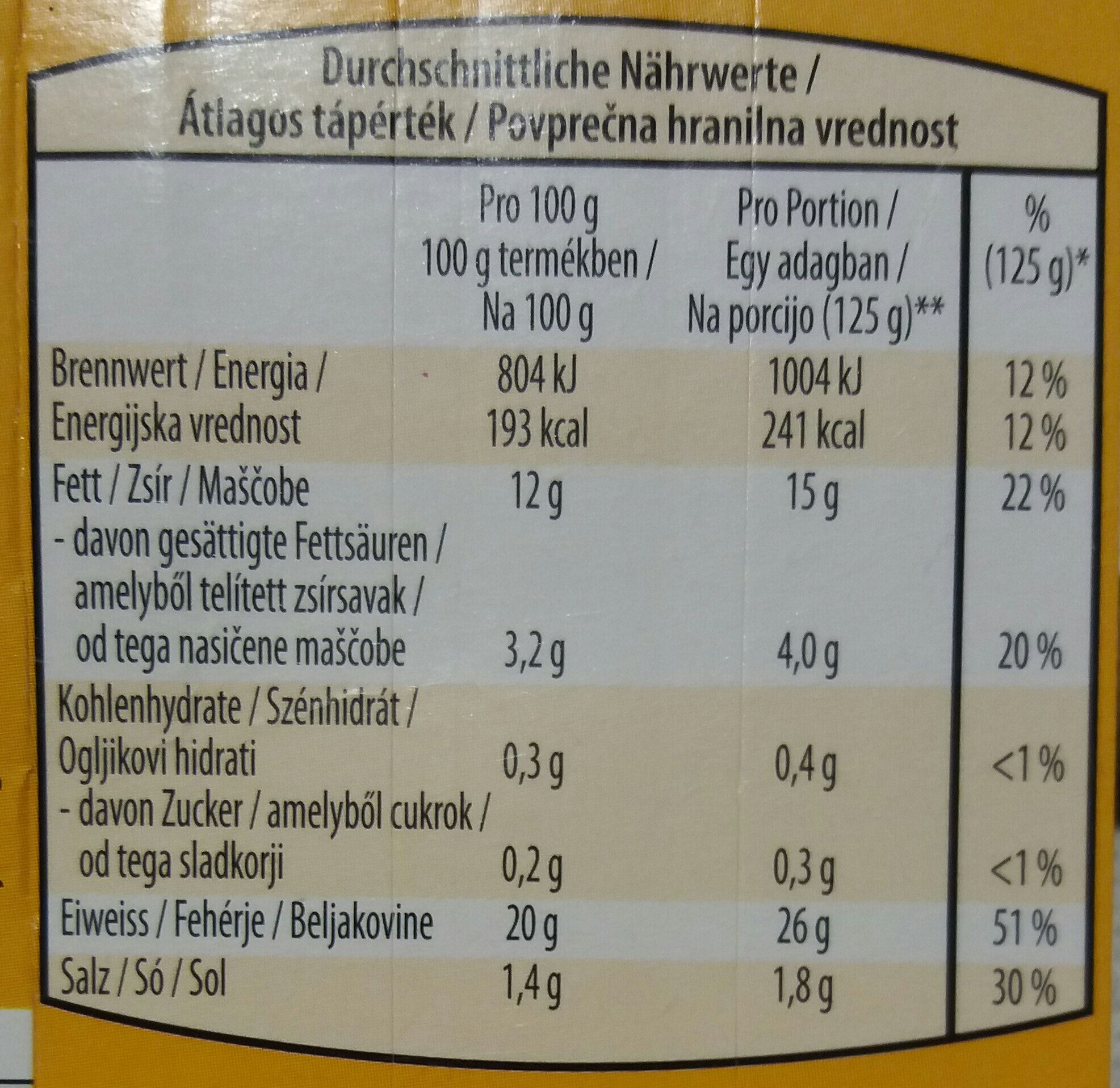 "Grill lazac ""Korzika"" - Nutrition facts - hu"