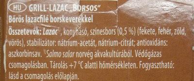 "Grill lazac ""borsos"" - Ingredienti - hu"
