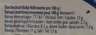 Filets de hareng - Valori nutrizionali - fr