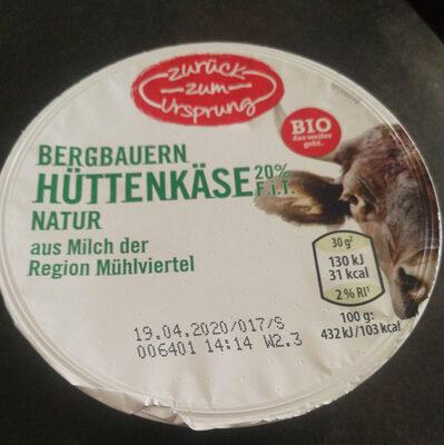 Bergbauern Hüttenkäse - Produit - de