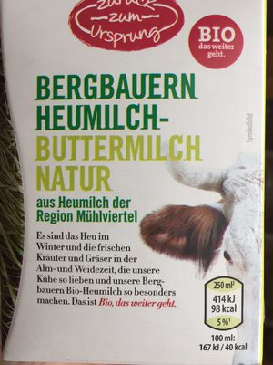 Bergbauern Heumilch Buttermilch Natur - Product