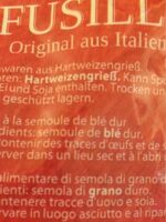 Fusilli - Ingredienti - fr