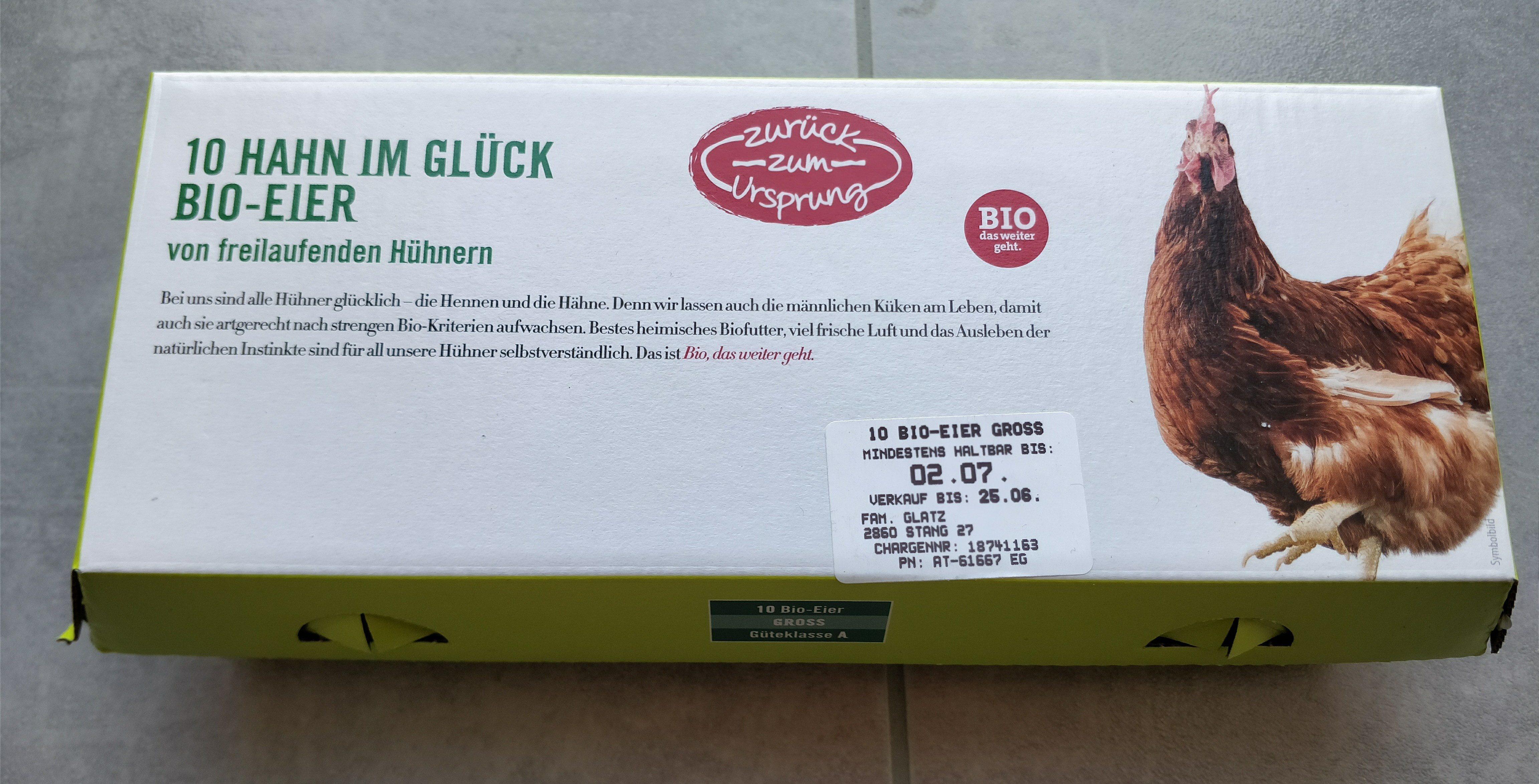 10 Hahn im Glück Bio-Eier (Hofer) - Product