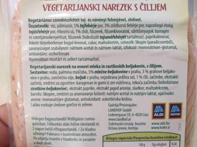 Charcuterie au piment sans viande - Ingredienti - fr